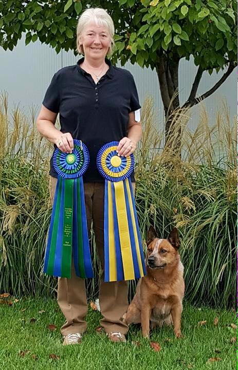 Laura and Rascal- National Specialty High In Trial Obedience